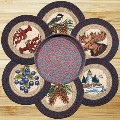 New England Braided Jute Trivet Set