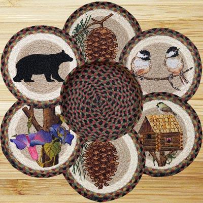 Cabin Bear Braided Jute Trivet Set