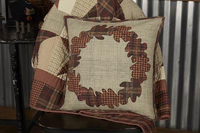 Abilene Harvest Wreath Throw Pillow