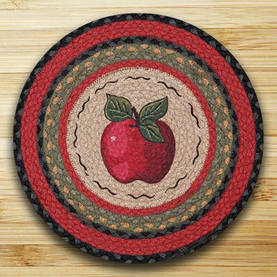 Apple Round Braided Placemat