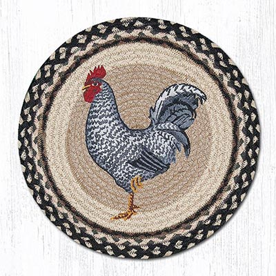 Rooster Braided Placemat - Round