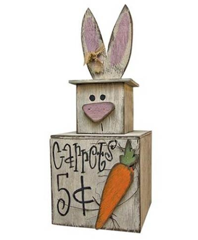 Rustic Bunny Stacker
