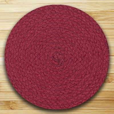Fiesta Maroon Braided Tablemat (10 inch)