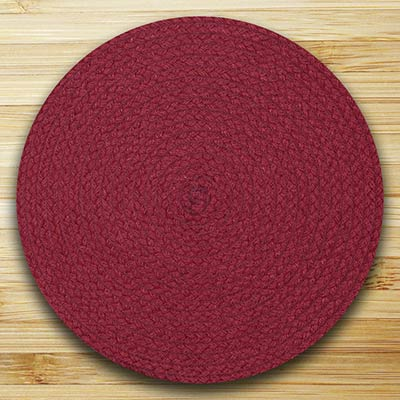 Fiesta Maroon Braided Placemat