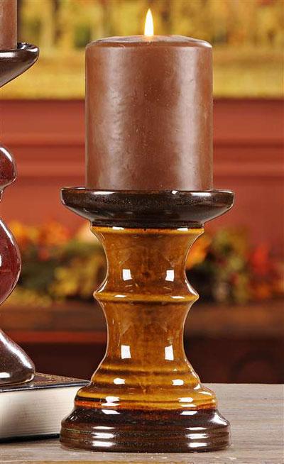 Medium Mustard Pillar Holder