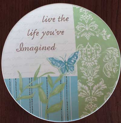 Serenity Butterfly Plate