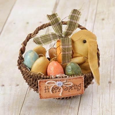 Country Bunny & Egg Basket