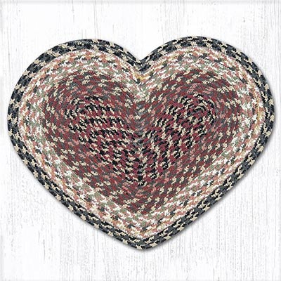 Burgundy, Gray, and Cream Heart Placemat