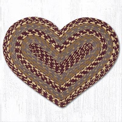 Burgundy, Gray, Mustard Heart Placemat