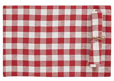 Buffalo Check Red Placemats (Set of 2)