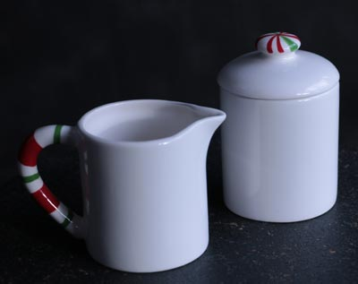 Candy Cane Creamer & Sugar Set