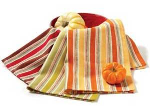 Striped Fall Kitchen Towel