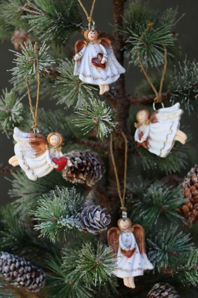 Tiny Angel Ornament (Set of 4)