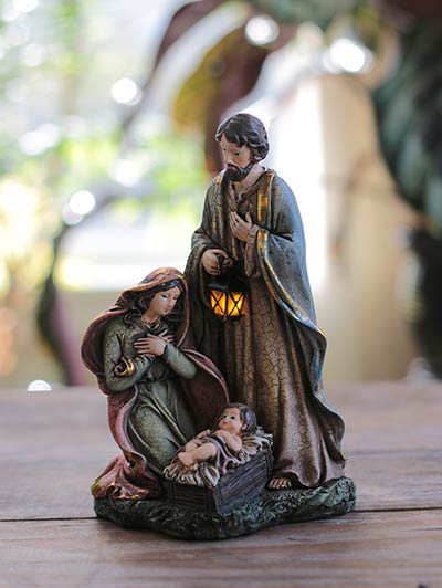 Holy Family Light-Up Nativity