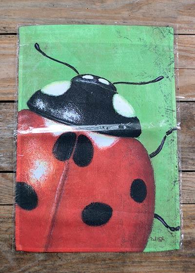 Ladybug Garden Flag