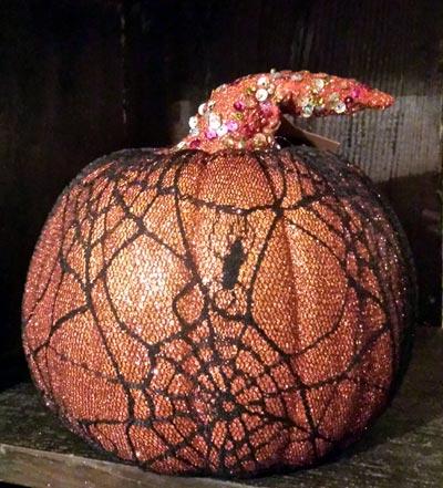 Mesh Pumpkin - Orange and Black