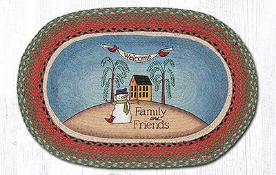 Welcome Family & Friends Braided Rug