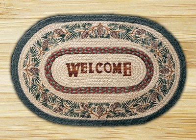 Pine Welcome Braided Jute Rug