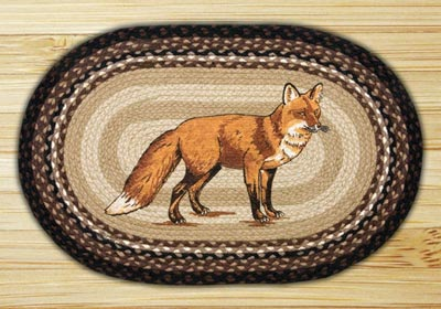 Fox Oval Patch Braided Rug