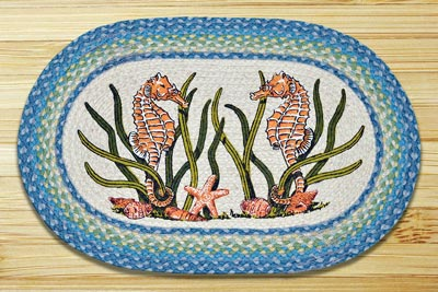 Sea Horse Braided Jute Rug
