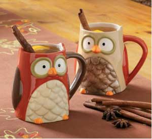 Owl Mug - Brown or Beige