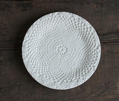 Lace Doily Ceramic Plate