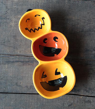 Pumpkin Three-part Divided Dish