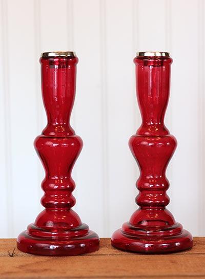 Rosanna Glass Candlesticks (Pair of 2)
