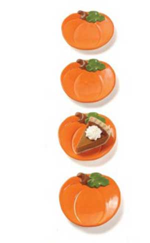 Pumpkin Shaped Appetizer Plate