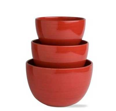 Sonoma Red Mixing Bowls (Set of 3)