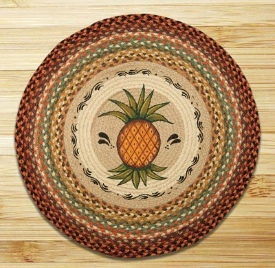 Pineapple Braided Jute Rug - Round