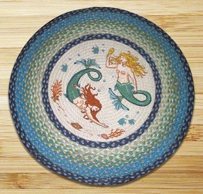Mermaids Braided Jute Rug - Round