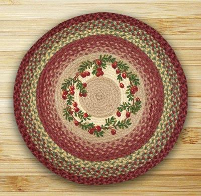 Cranberries Braided Jute Rug - Round