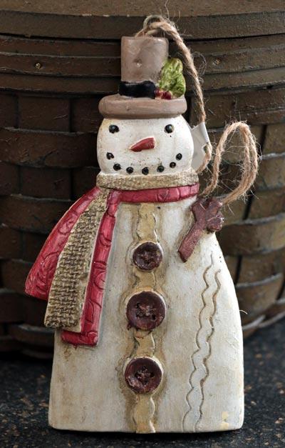 Glad Tidings Snowman Ornament