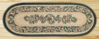 Pinecone Braided Jute Tablerunner - 36 inch