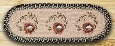 Robins Nest Braided 36 inch Table Runner