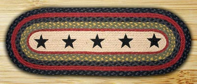 Stars Braided Table Runner - 36 inch