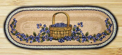 Blueberry Basket Braided Jute Table Runner - 36 inch