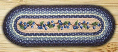Blueberry Vine Braided Jute Table Runner - 36 inch