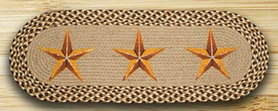 Golden Barn Star Braided Table Runner - 36 inch
