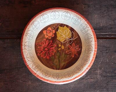 Fall Flora Paper Bowls