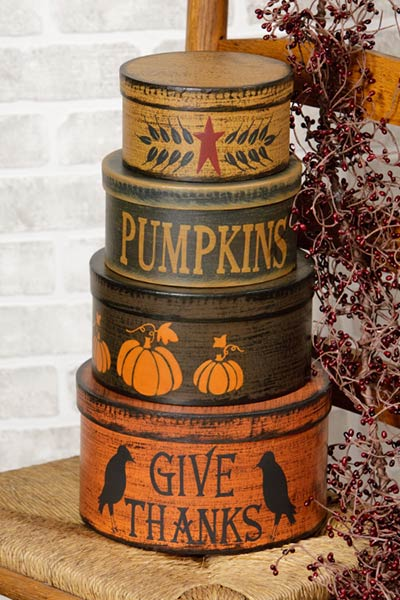 Primitive Fall Stacking Boxes (Set of 4)