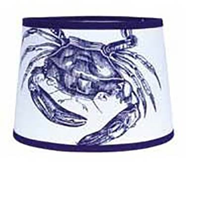 Lamp shades for country home decor by raghu the weed patch crab drum lamp shade 10 inch cobalt blue white mozeypictures Choice Image