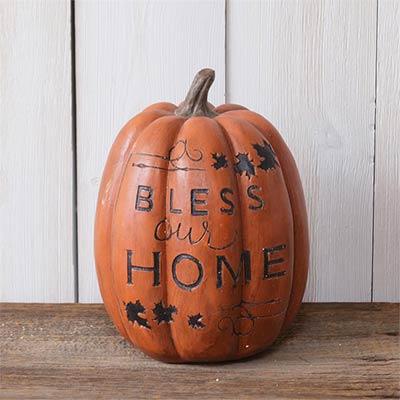 Bless Our Home Pumpkin