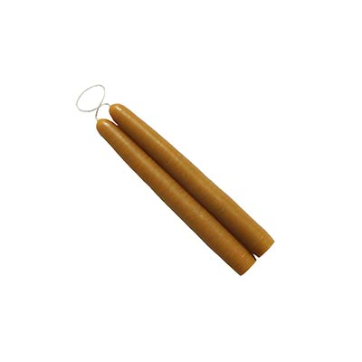 6 inch Antique Gold Mole Hollow Taper Candles (Set of 2)