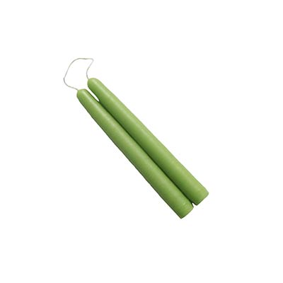 6 inch Lime Green Mole Hollow Taper Candles (Set of 2)