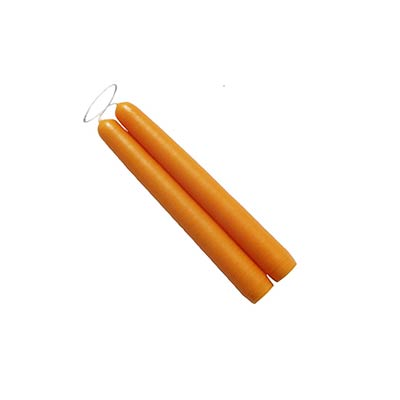 6 inch Yellow Orange Mole Hollow Taper Candles (Set of 2)