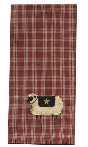 Sheep with Star Dishtowel