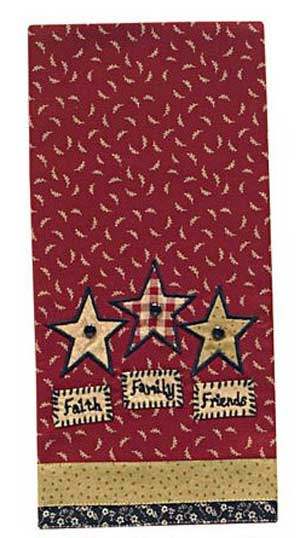 Faith, Family, Friends Dishtowel