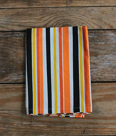 Candy Corn Dishtowel - Striped